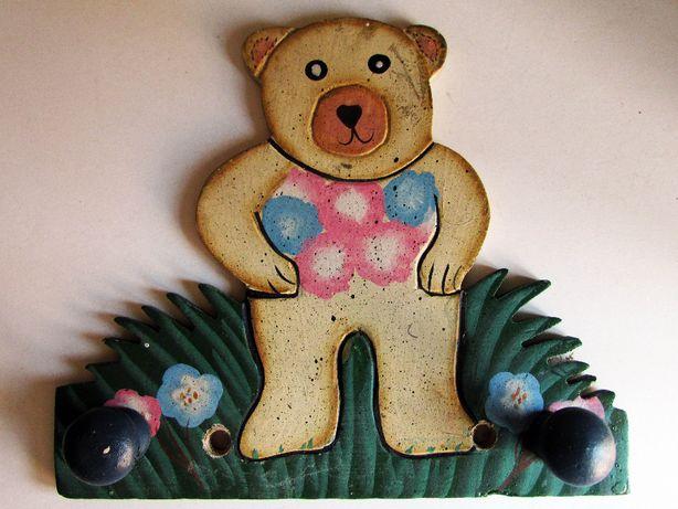 Bengaleiro ursinho, em madeira, em excelente estado