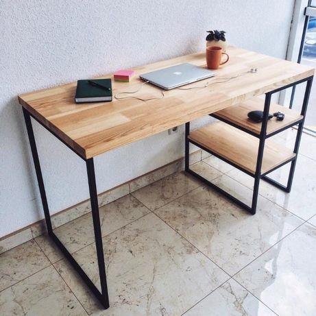 БЕЗКОШТОВНА ДОСТАВКА! Письмовий стіл із натурального дерева стиль Loft