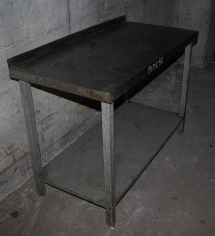 Стол производственный, столешня из н/ж, 130х60х85 см., Б/у 71233