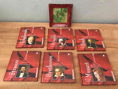 Colecção música clássica Mozart Bach Beethoven Strauss Vivaldi Tchaiko