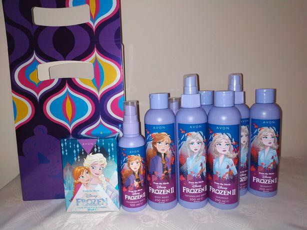 Zestaw Avon Frozen 4szt-26zł, 5szt (z perfumami) - 46zł. Nowe