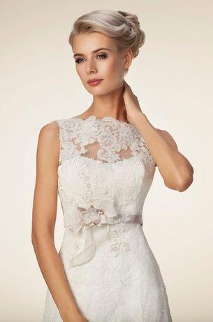 Suknia ślubna S koronkowa stan idealny