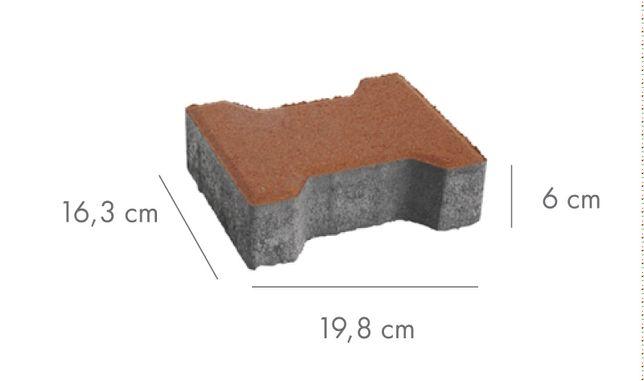 Kostka brukowa Libet Podwójne T grubość 6cm