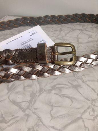Серебристый цвета металлик Кожаный пояс ремень