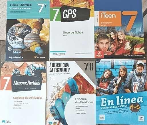 Cadernos de Atividades do 7º ano por 8º ano