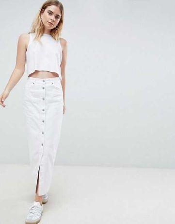 dr.denim-venla, nowa, biała spódnica jeansowa , XL- super fason