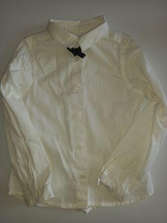 Biala koszula dla dziewczynki r.110