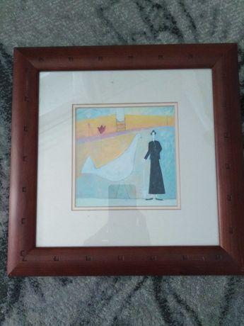 Obraz Bird in the Garden, Annora Spence w pięknej ramię 30/30cm