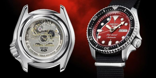 SEIKO 5 SRPE83K1 Sports Brian May Red Limited tylko 9000 szt