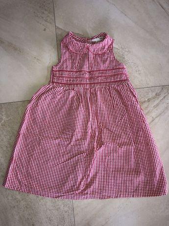 Sukienka x2 h&m 104 / 110 czerwona