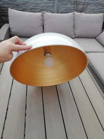 Lampa wisząca nowoczesna biało złota