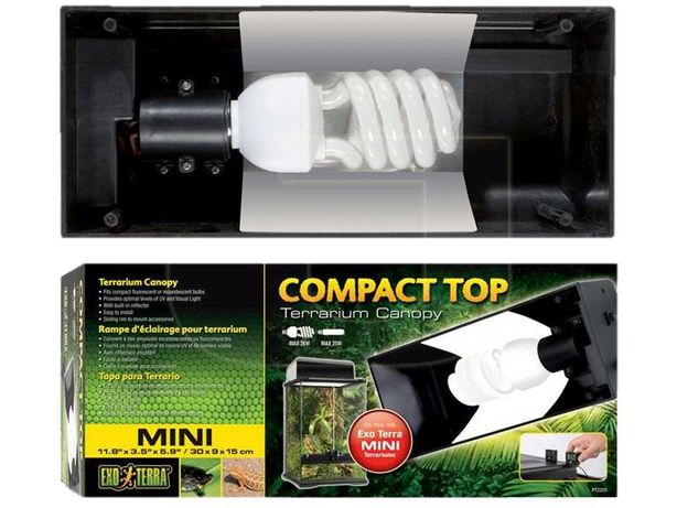 Светильник Hagen ExoTerra Compact Top Mini PT-2225, цок. Е27