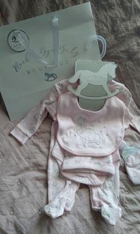 Zestaw komplet dla noworodka na prezent 5 elementów
