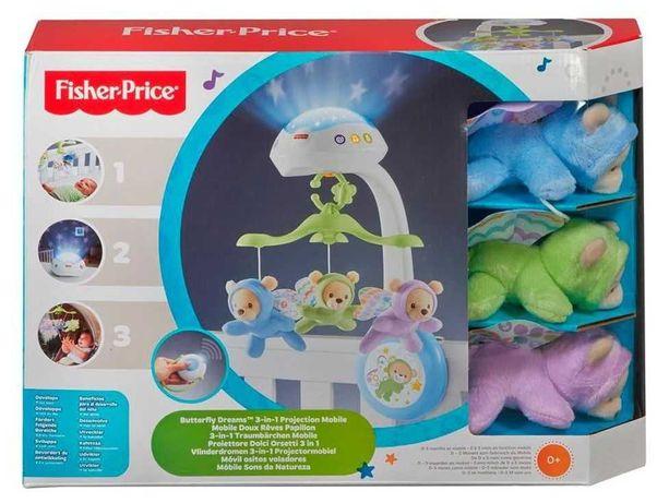 Мобиль Fisher Price США CDN41 карусель ночник на кроватку мобіль