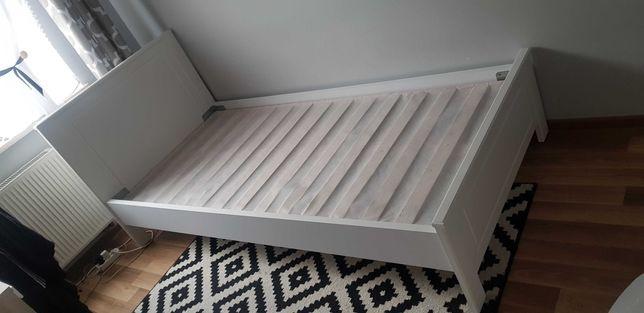 Łóżko białe pojedyńcze