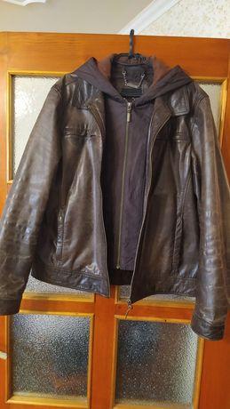 Zara куртка кожаная