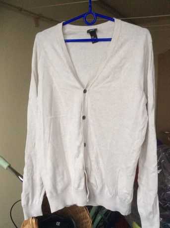 Sweter męski, H&M, rozmiar M, beżowy zamienię na chusteczki nawilżane