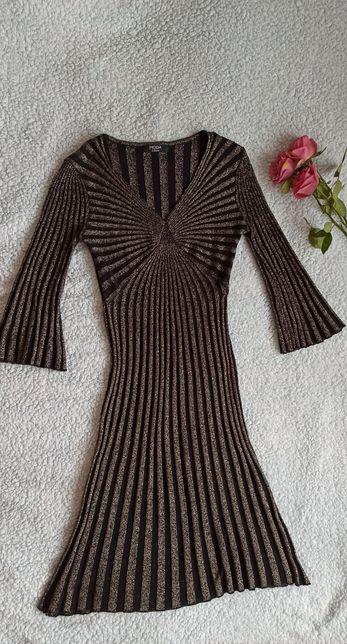 Плаття золотисто чорне