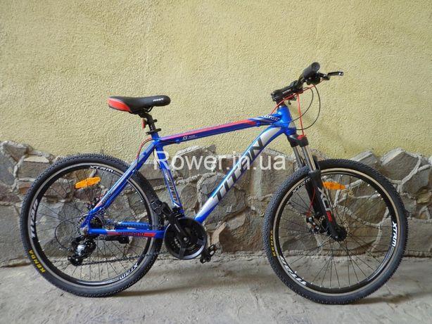 Новий велосипед Titan Solar 26 Blue алюмінієвий / Вилка SR XCT з Loc