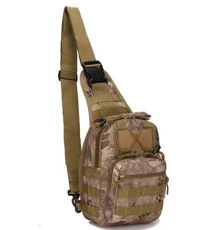 Plecak wojskowy na jedno ramię taktyczny kamuflaż