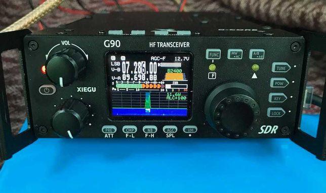 Radioamador HF SDR Xiegu G90 com antena tuner