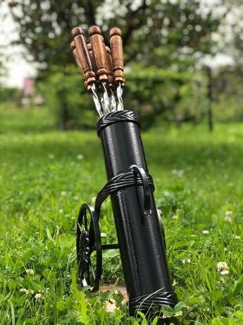 Шампура з дерев'яними ручками