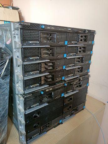 МОЩА Блейд сервер + 12 серверов + Хранилеще на 600Гб * 24