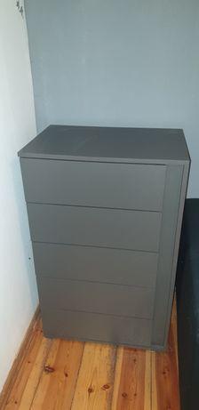Nowoczesna komoda 5 szuflad, antracytowa