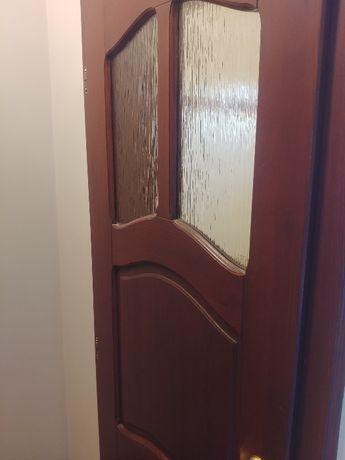 Drzwi łazieniowe drewniane
