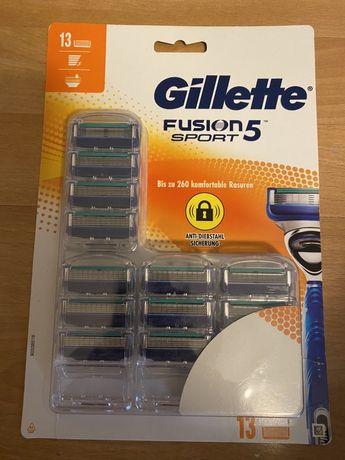 Gillette fusion sport 5 mach 5 ostrzy - 13wkladow