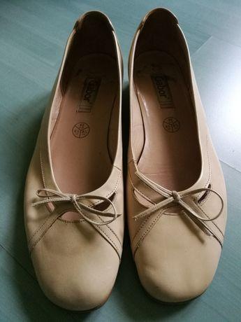 Pantofle skórzane GABOR