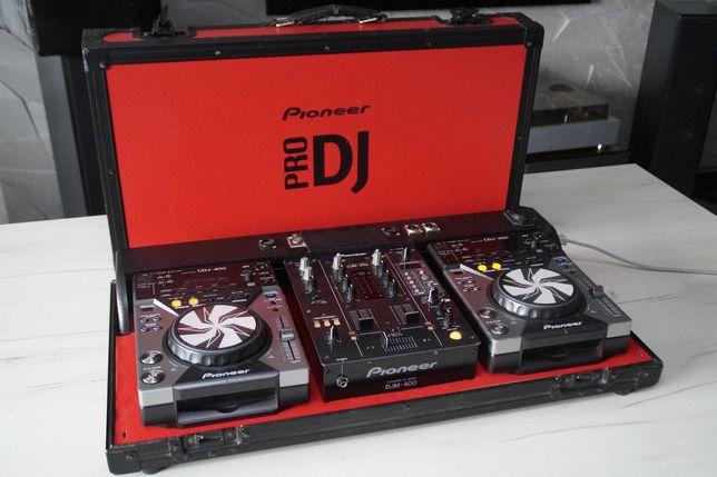 Zestaw Konsola DJ 2 x Pioneer CDJ 400 DJM 400 Flight Case XDJ RX/RR