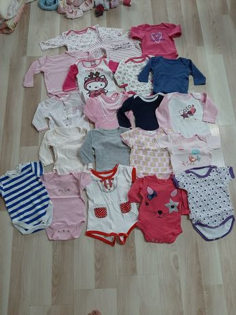 Ubranka niemowlęce dla dziewczynki , paczka rozmiar 56-68