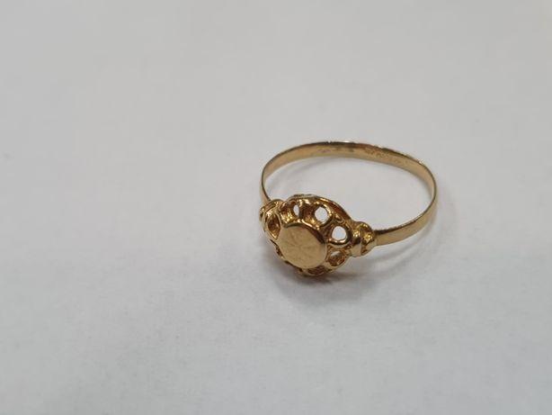 Klasyczny złoty pierścionek damski/ 750/ 1.79 gram/ R12/ Lite złoto
