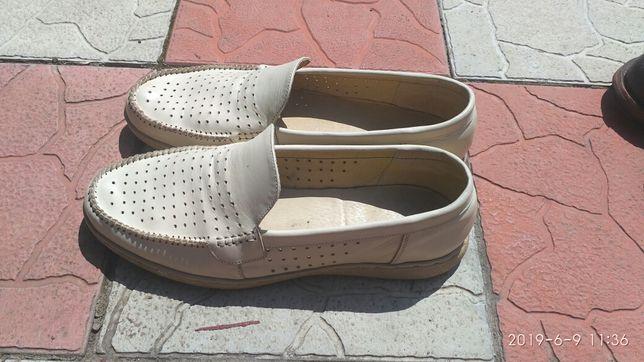 Продам летнюю мужскую кожаную обувь. Мокасины. Слипоны. Туфли