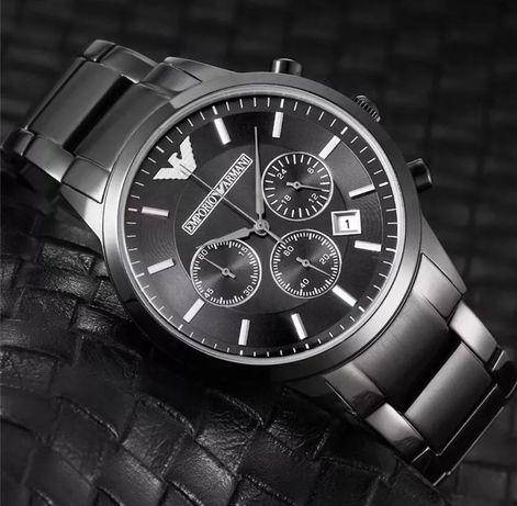 Nowy zegarek męski ARMANI, kolor czarny, bransoleta