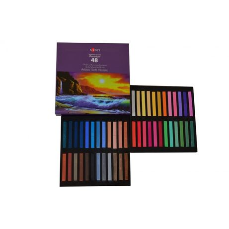 "Пастель сухая ""Santi"" карандаши мольберт краски кисти холст бумага"