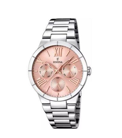Festina zegarek damski na srebrnej bransolecie