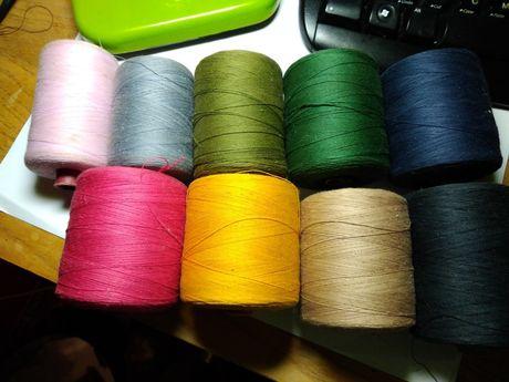 Нитки швейные, разноцветные