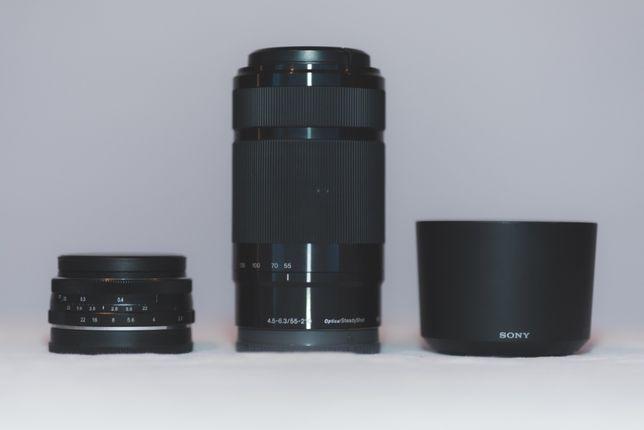 Obiektyw Sony E 55-210 mm f/4.5-6.3 plus drugi