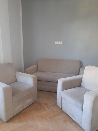 Sofa, fotele. Sofa rozkładana , pojemnik na pościel, dwa fotel