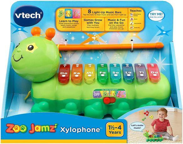 Музыкальная гусеница ксилофон VTech Zoo Jamz Xylophone