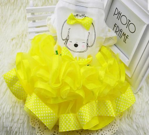 Zolta sukienka dla pieska M