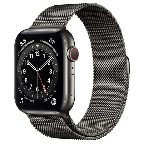 Apple Watch Series 6 44mm Graphite Stainless Steel with Milanese Loop