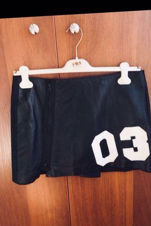 Phard Италия новая кожаная юбка, с этикеткой , нат кожа