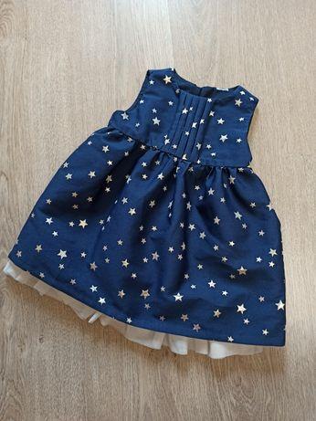 Платье Звездочки на годик, рост 80, фирма Baby Club (c&a), Германия