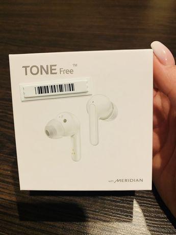 Słuchawki bezprzewodowe LG TONE Free FN4 białe