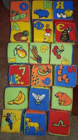 Кубики м'які іграшки