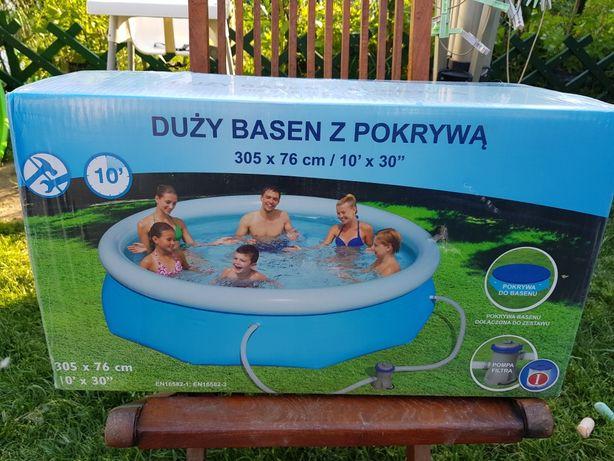 Bestway Świetny basen z pokrywą i pompą filtra w zestawie