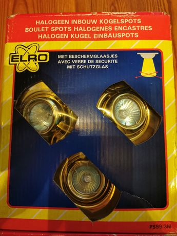 Lampki halogenowe do montażu w suficie, regulowane. Nowe